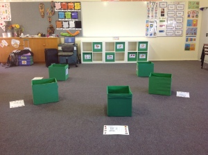 class set up ready for Lesson