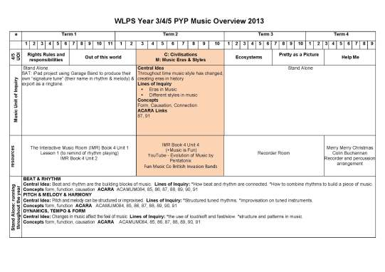 WLPS Music 3_4_5 Overview 2014