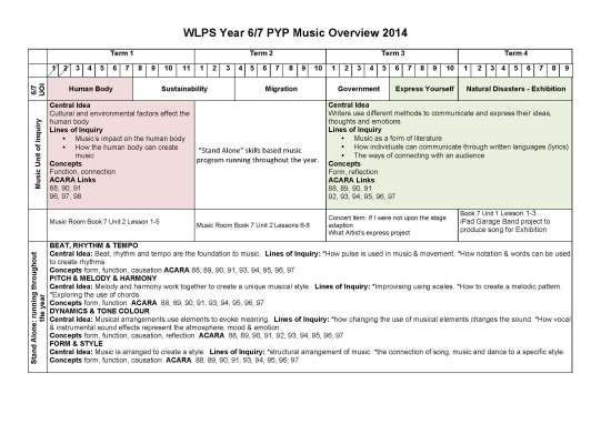 WLPS Music 6_7 Overview 2014