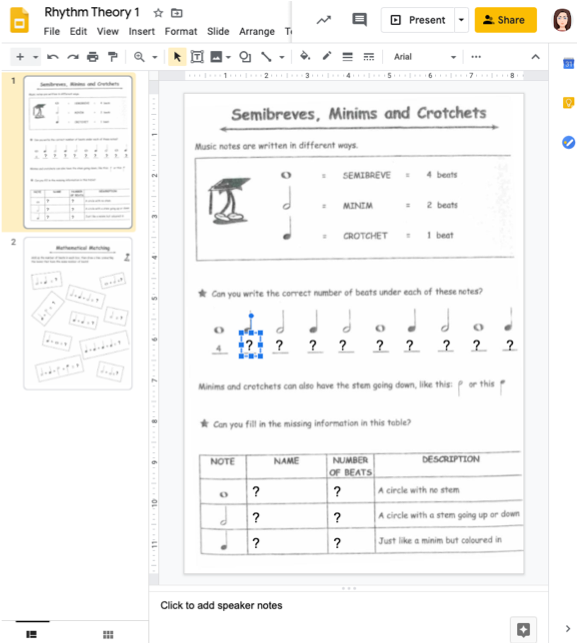 google slides example 1
