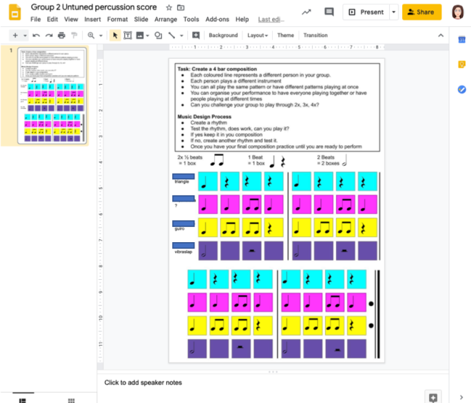 google slides example 3 students